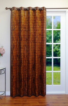 Environmentally Friendly Bamboo Grommet Curtain Panel
